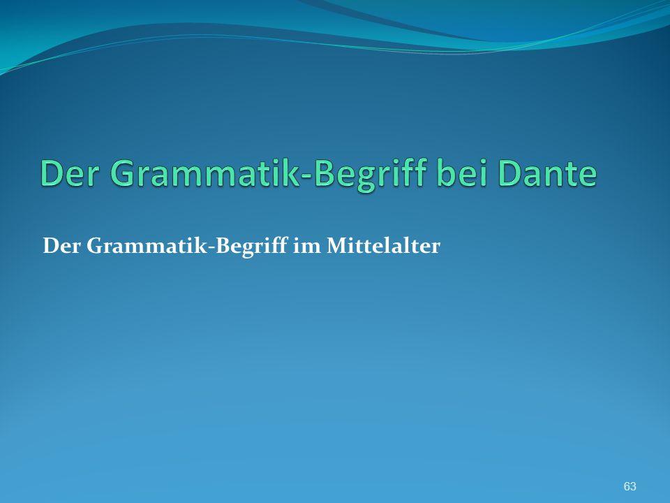 Der Grammatik-Begriff bei Dante