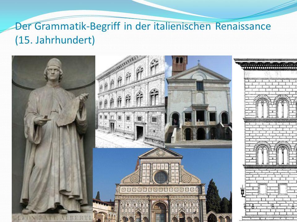Der Grammatik-Begriff in der italienischen Renaissance (15
