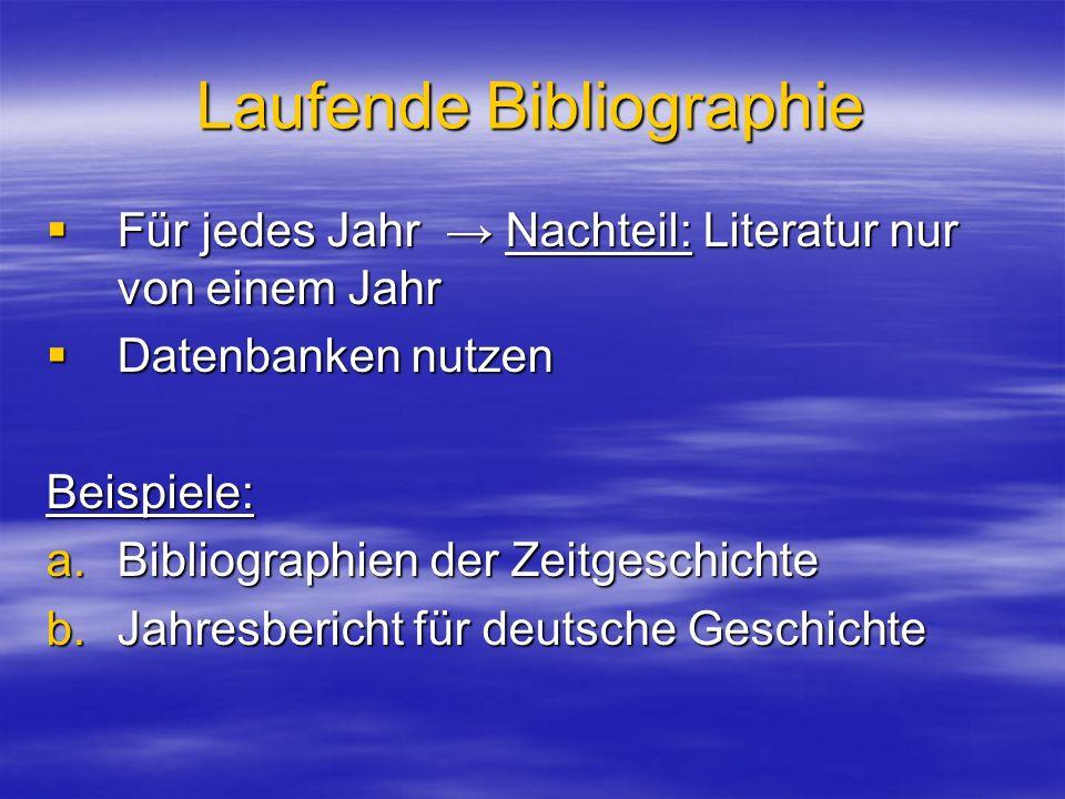 Laufende Bibliographie