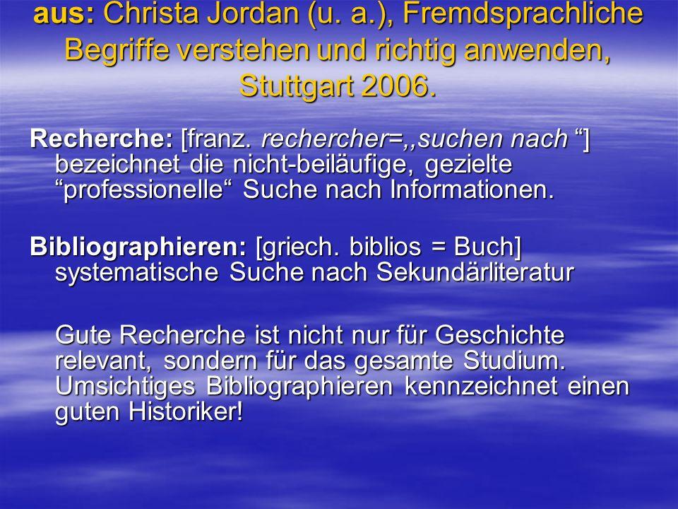 aus: Christa Jordan (u. a