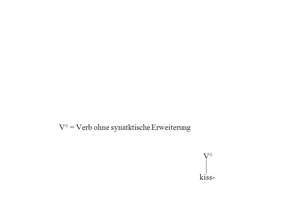 V° = Verb ohne synatktische Erweiterung