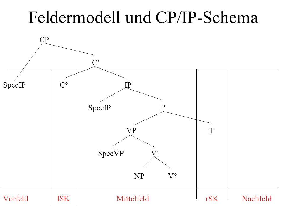 Feldermodell und CP/IP-Schema