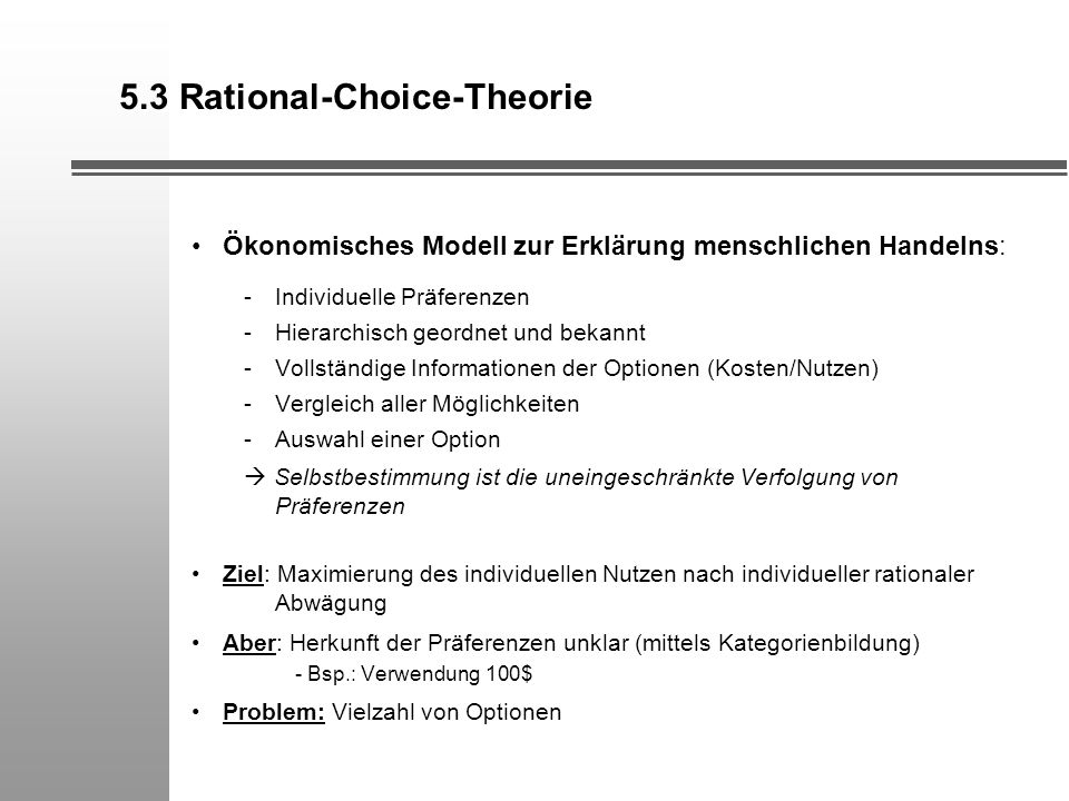 5.3 Rational-Choice-Theorie