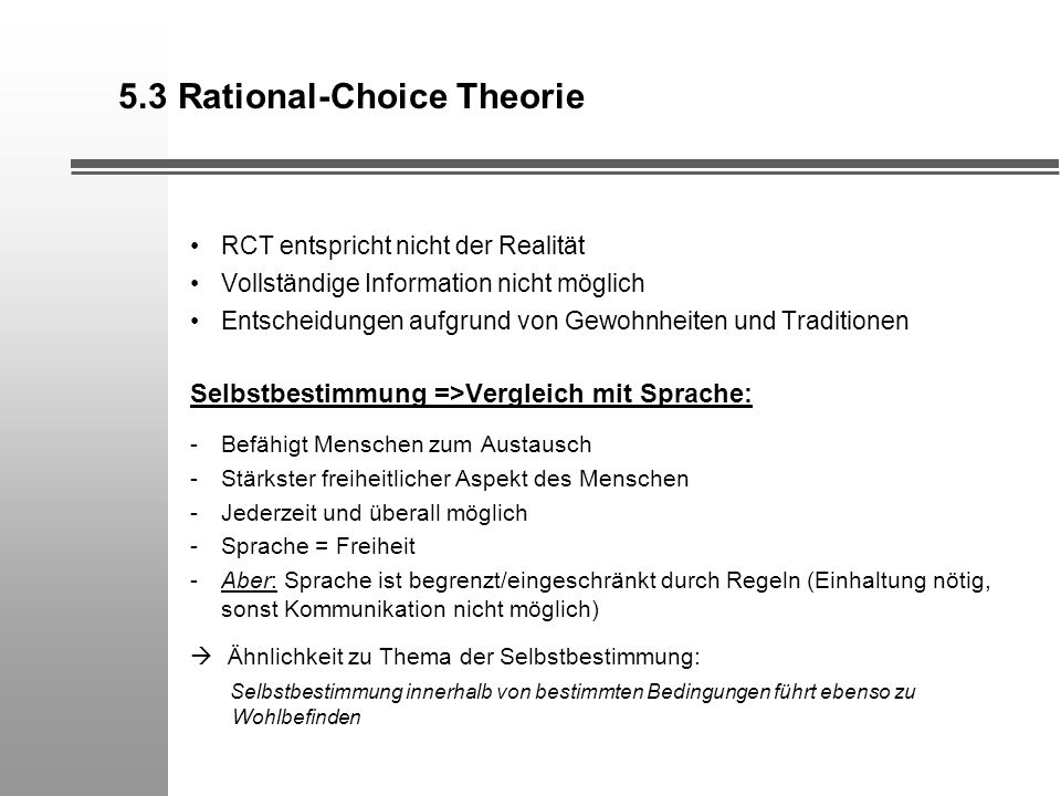 5.3 Rational-Choice Theorie