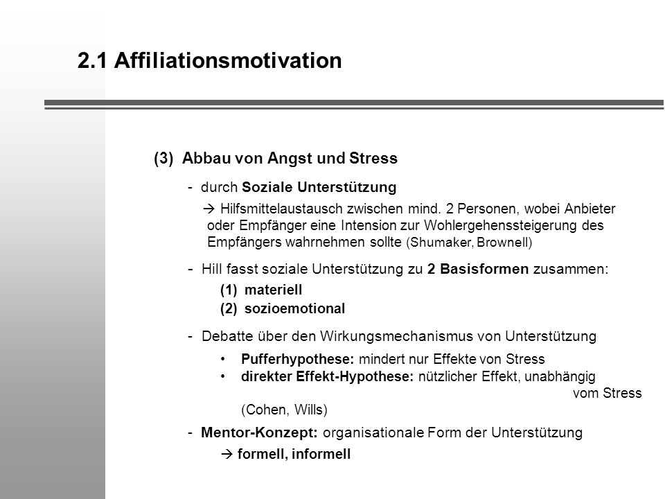 2.1 Affiliationsmotivation