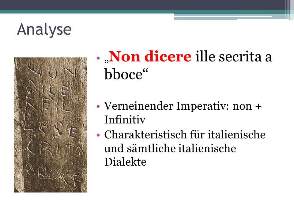 """Analyse """"Non dicere ille secrita a bboce"""
