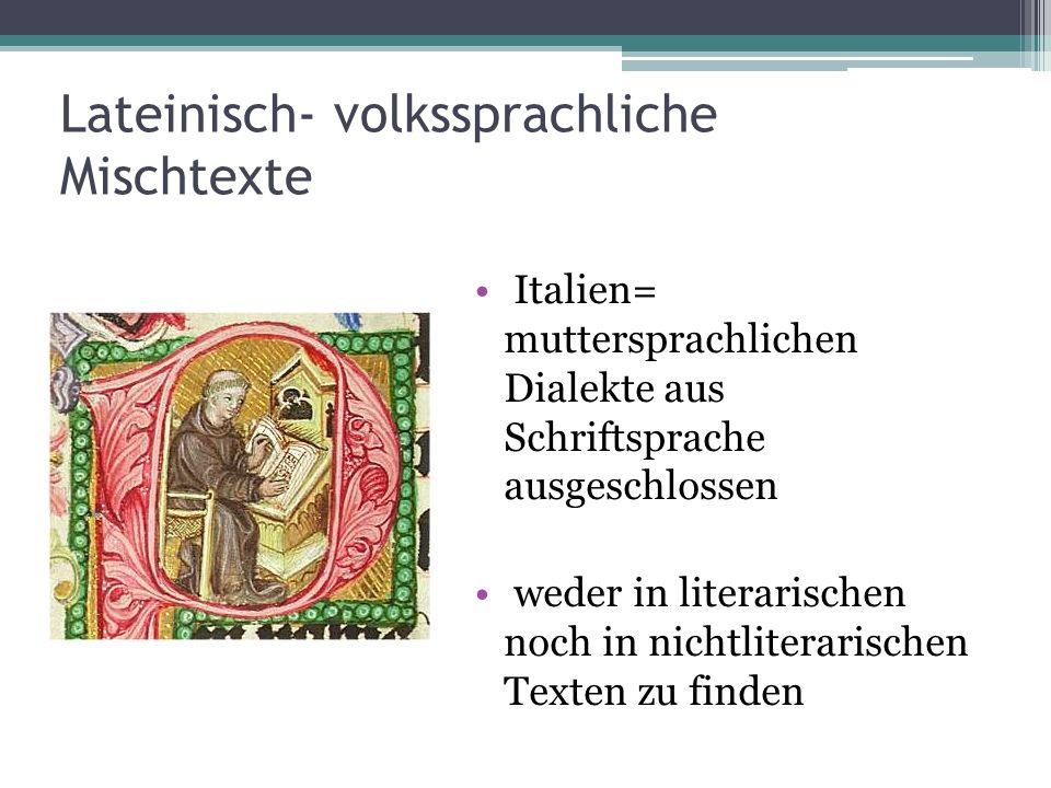 Lateinisch- volkssprachliche Mischtexte