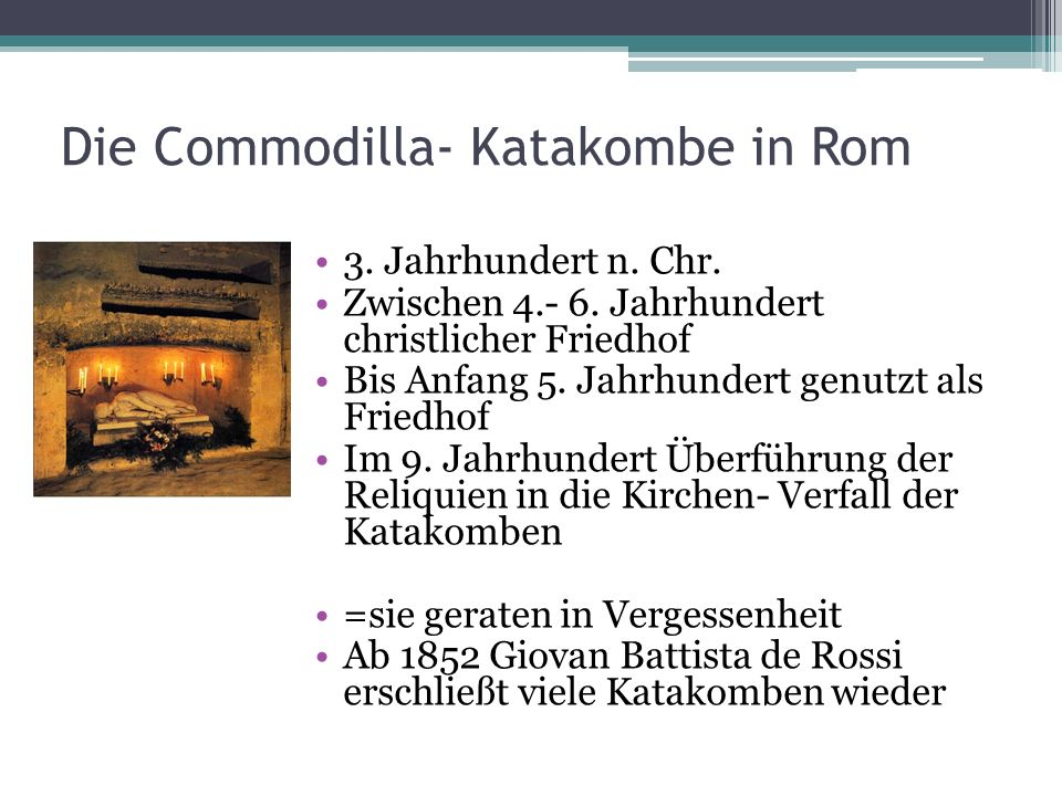 Die Commodilla- Katakombe in Rom