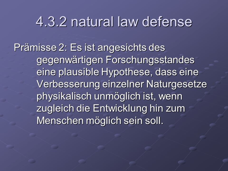 4.3.2 natural law defense