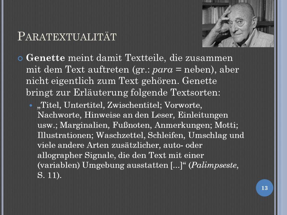 Paratextualität