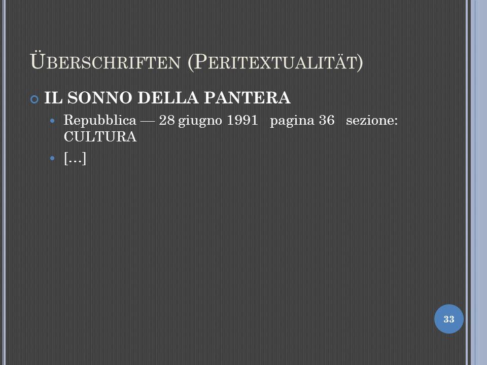 Überschriften (Peritextualität)