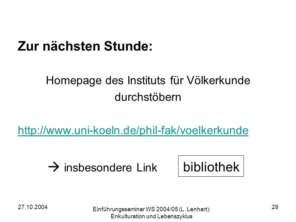 Homepage des Instituts für Völkerkunde