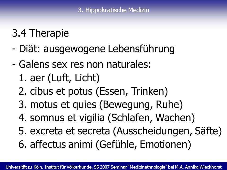 3. Hippokratische Medizin