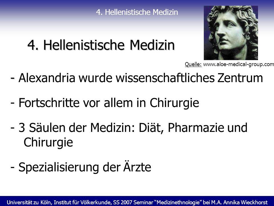 4. Hellenistische Medizin