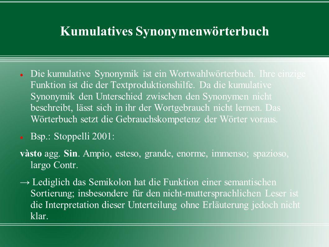 Kumulatives Synonymenwörterbuch