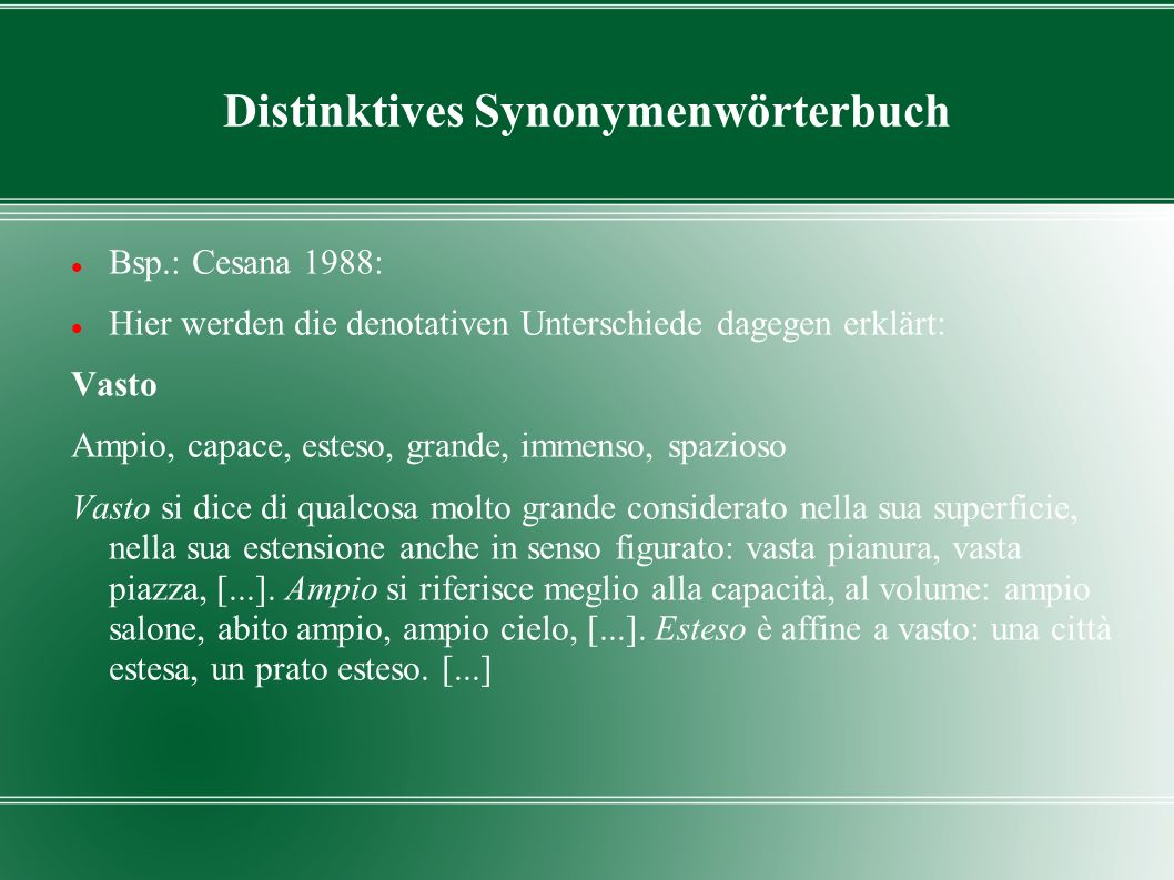 Distinktives Synonymenwörterbuch