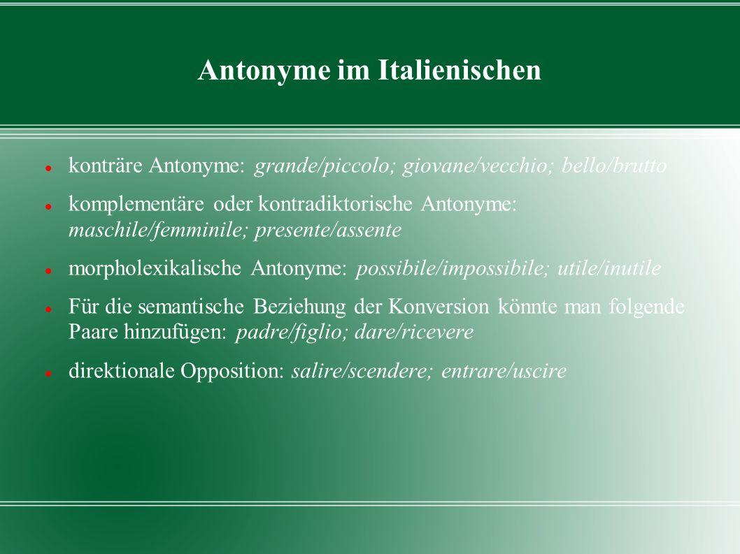 Antonyme im Italienischen