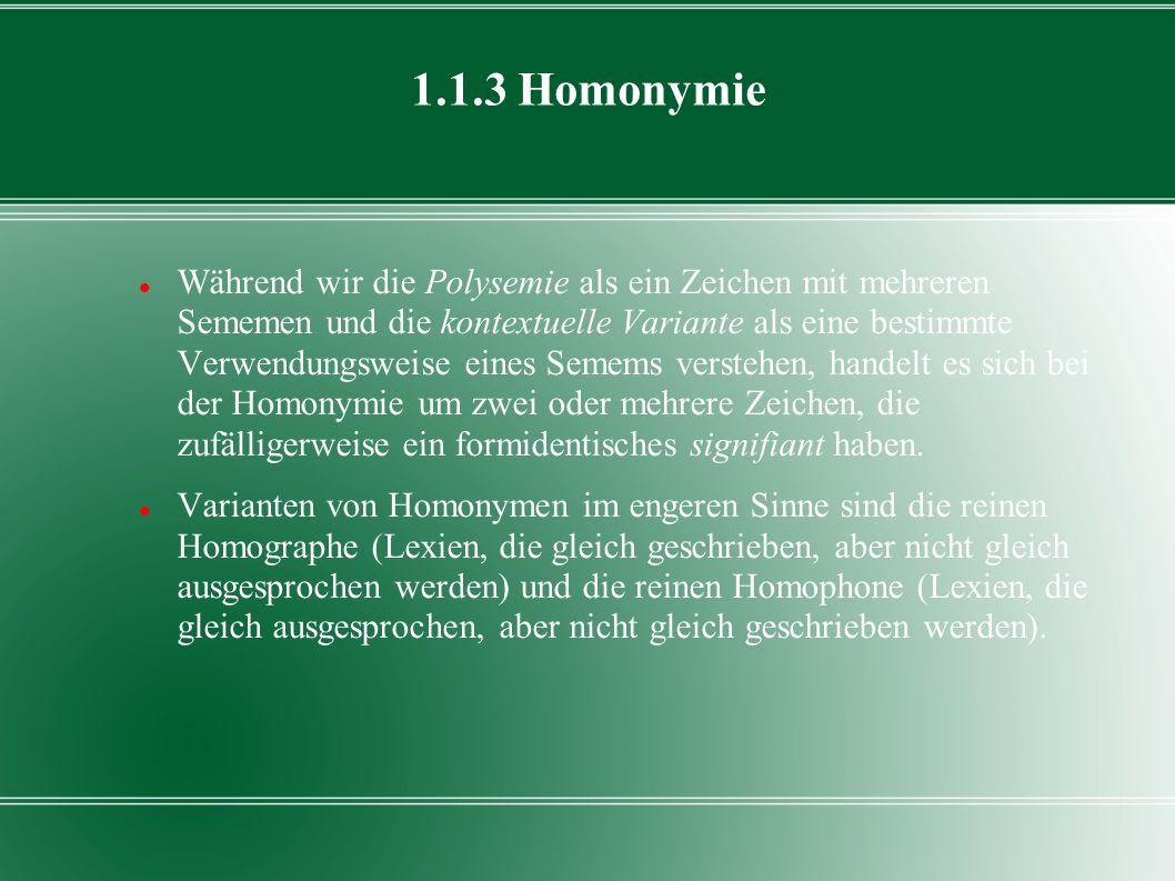 1.1.3 Homonymie