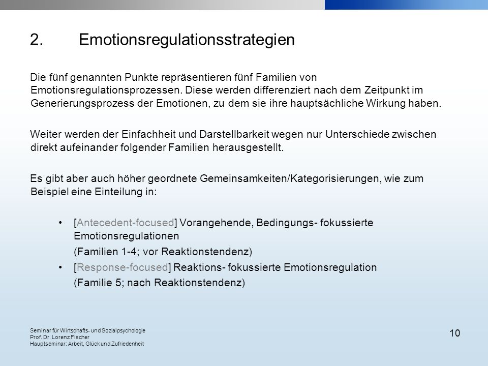 Emotionsregulationsstrategien