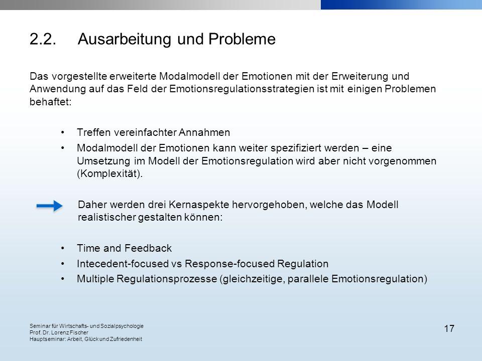 2.2. Ausarbeitung und Probleme