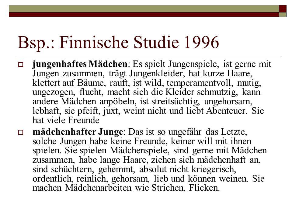 Bsp.: Finnische Studie 1996