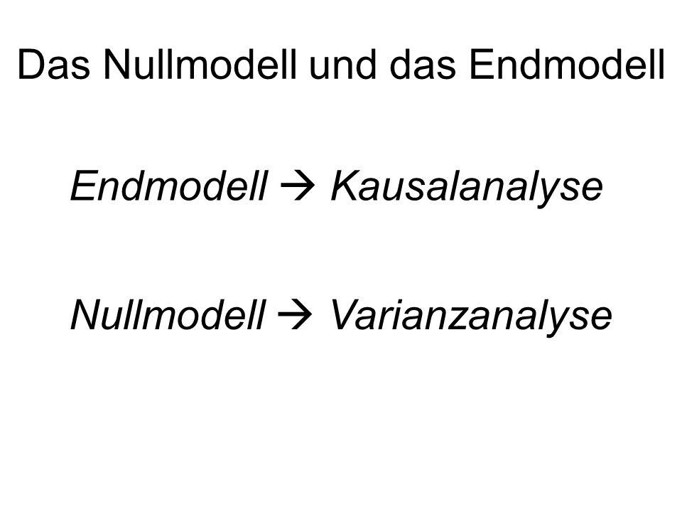 Das Nullmodell und das Endmodell
