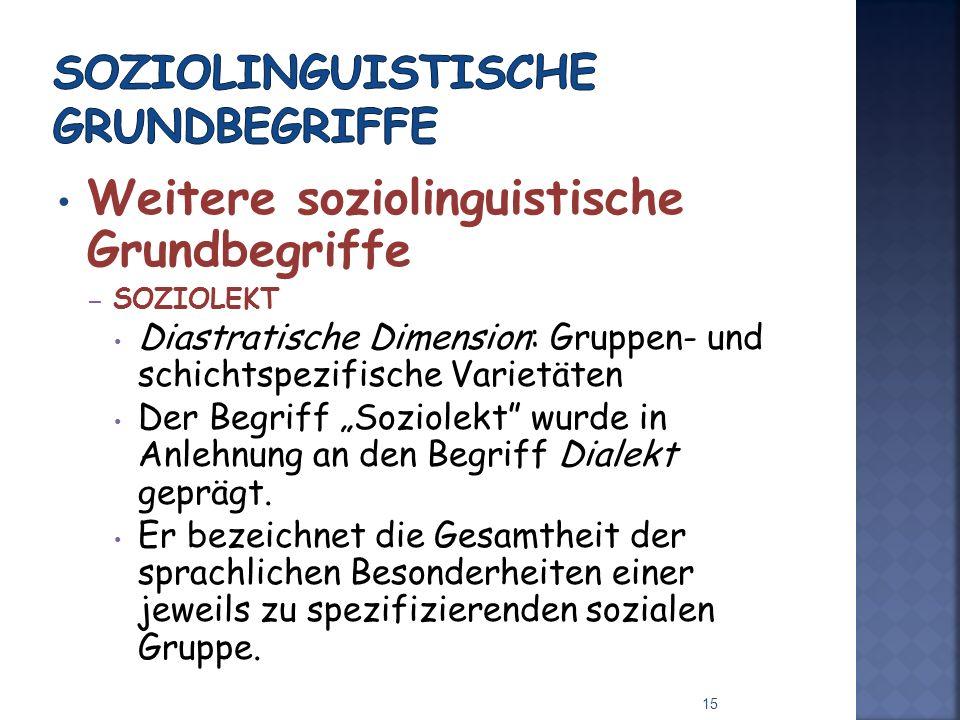 Soziolinguistische Grundbegriffe