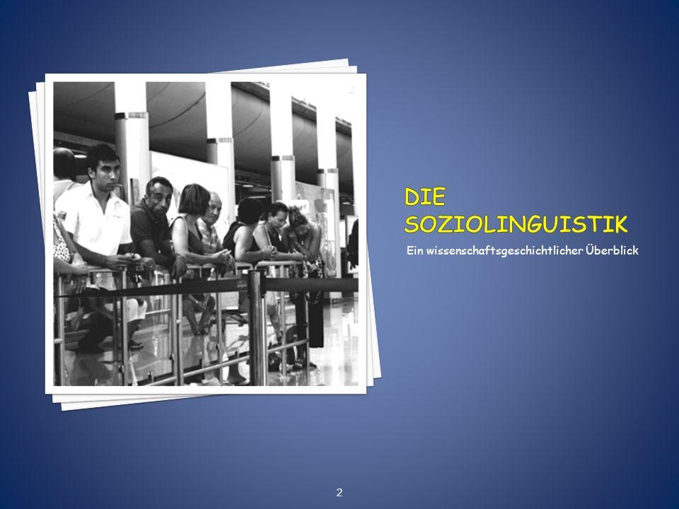 Die Soziolinguistik Ein wissenschaftsgeschichtlicher Überblick