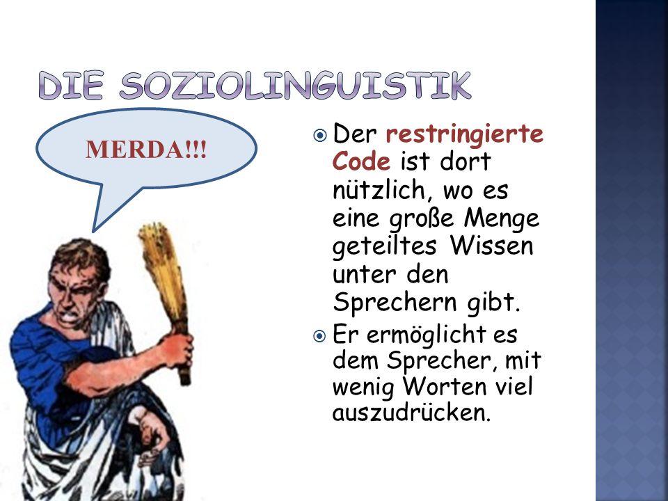 Die Soziolinguistik MERDA!!!