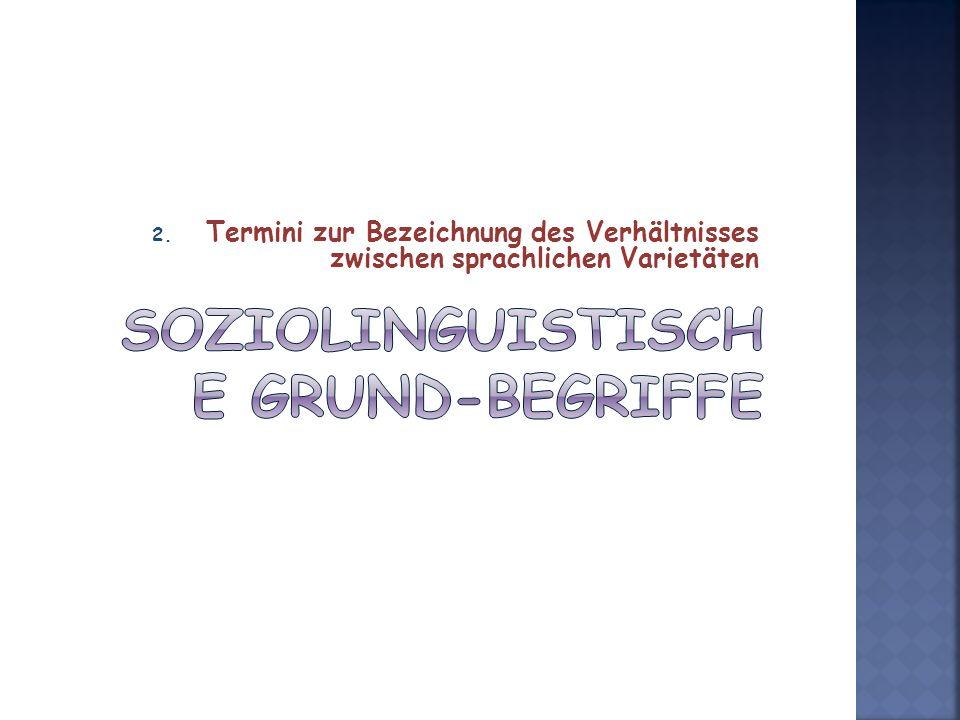 Soziolinguistische Grund-begriffe