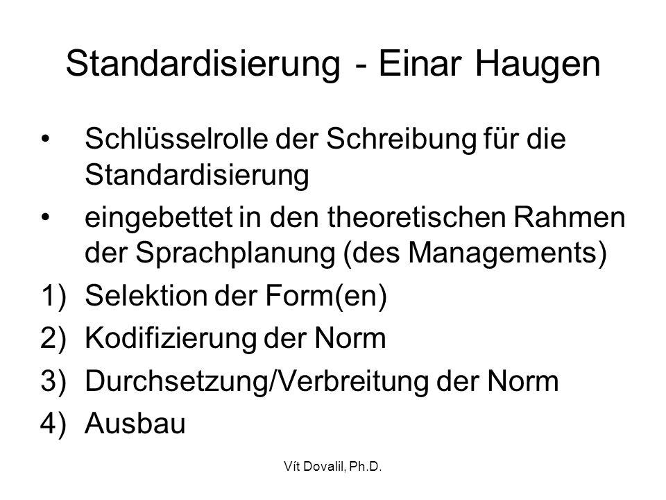 Standardisierung - Einar Haugen