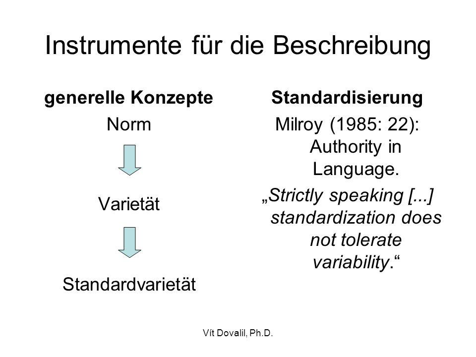 Instrumente für die Beschreibung