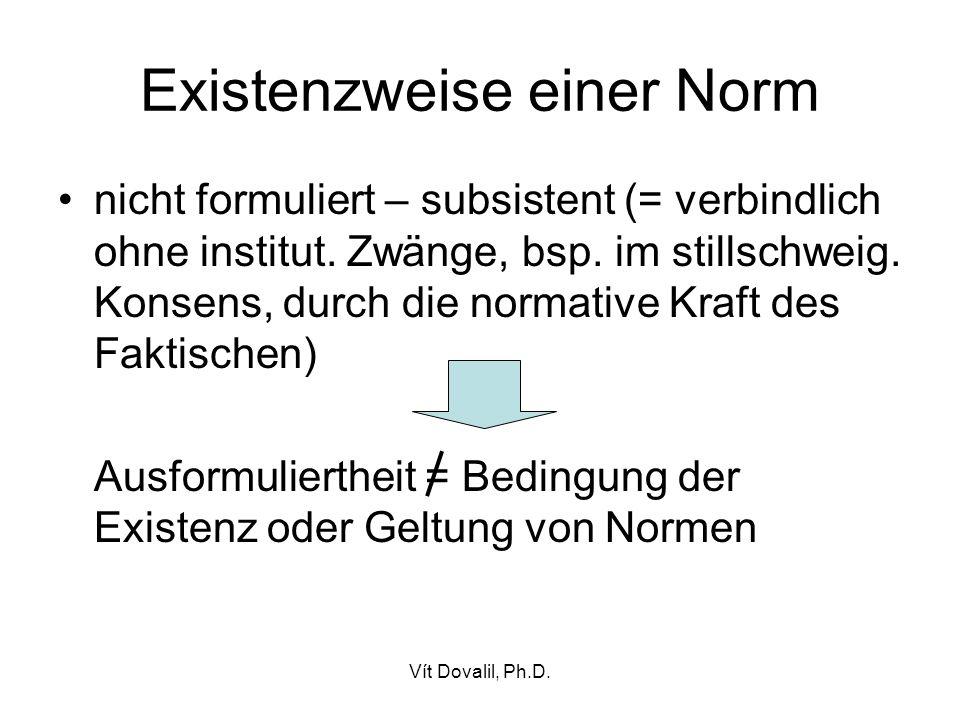 Existenzweise einer Norm