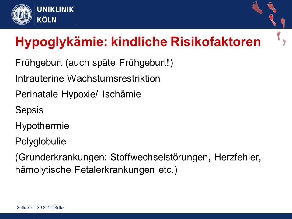 Hypoglykämie: kindliche Risikofaktoren
