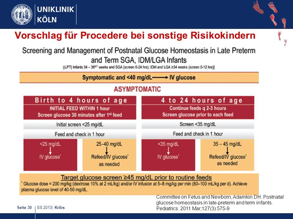 Vorschlag für Procedere bei sonstige Risikokindern