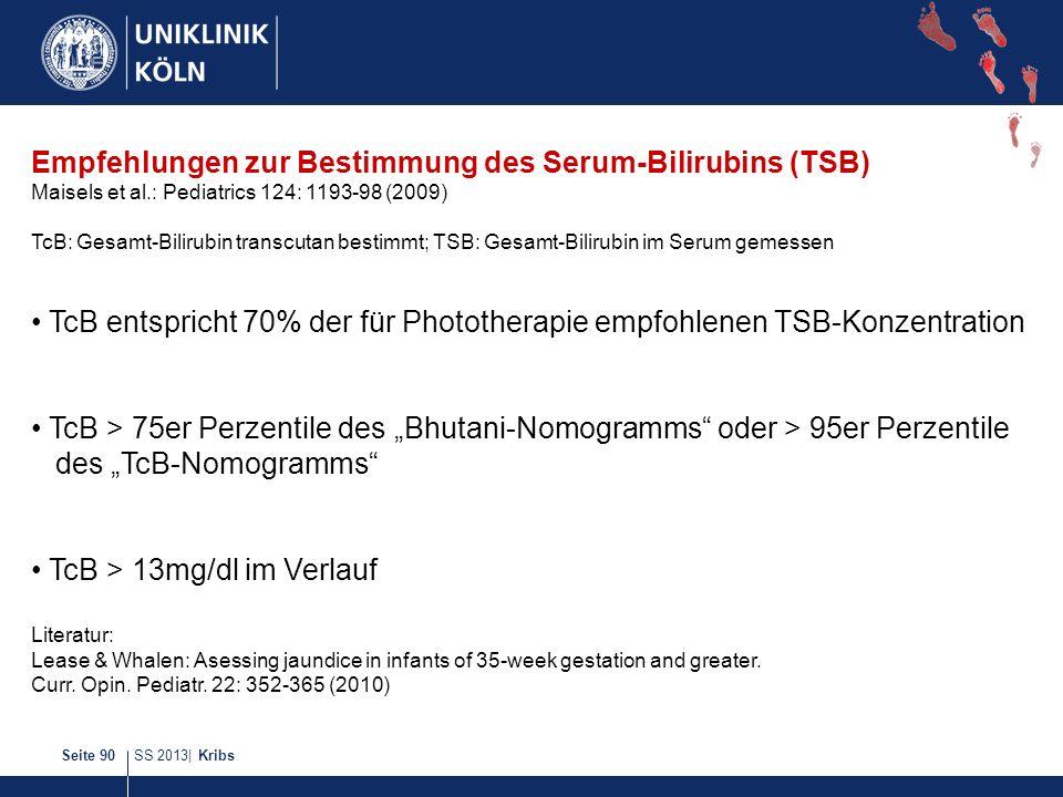 Empfehlungen zur Bestimmung des Serum-Bilirubins (TSB)