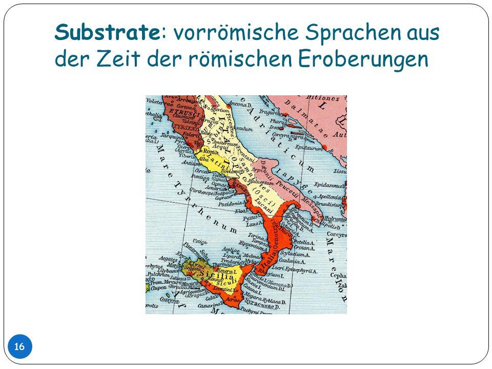 Substrate: vorrömische Sprachen aus der Zeit der römischen Eroberungen