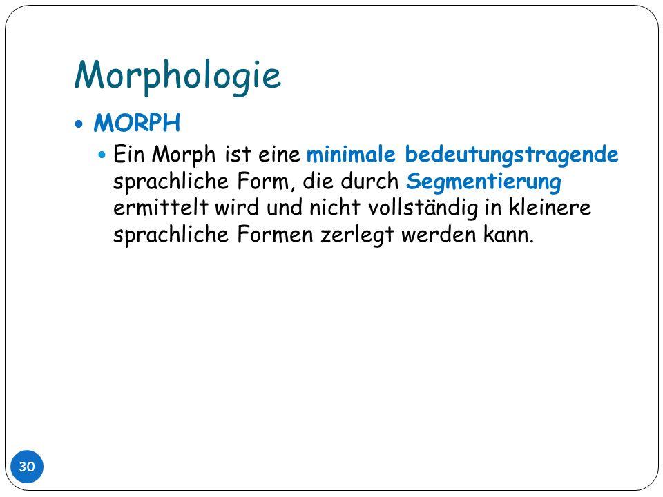 Morphologie MORPH.