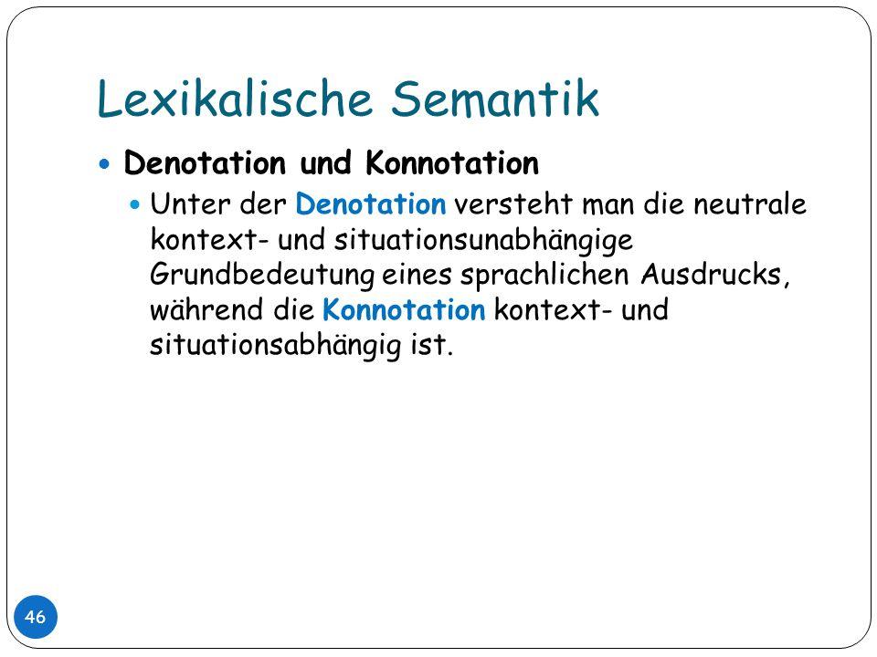 Lexikalische Semantik