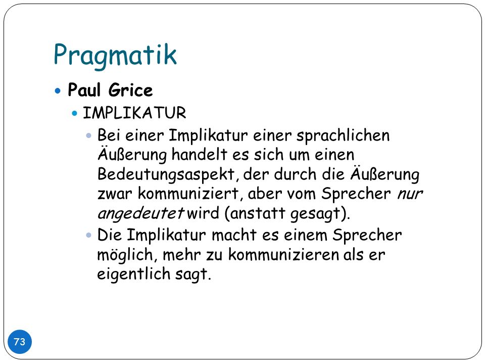 Pragmatik Paul Grice IMPLIKATUR