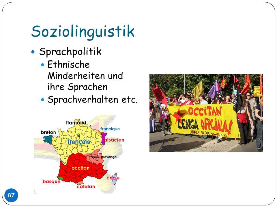 Soziolinguistik Sprachpolitik Ethnische Minderheiten und ihre Sprachen