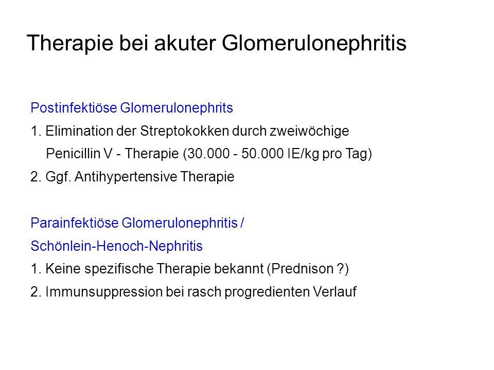 Therapie bei akuter Glomerulonephritis