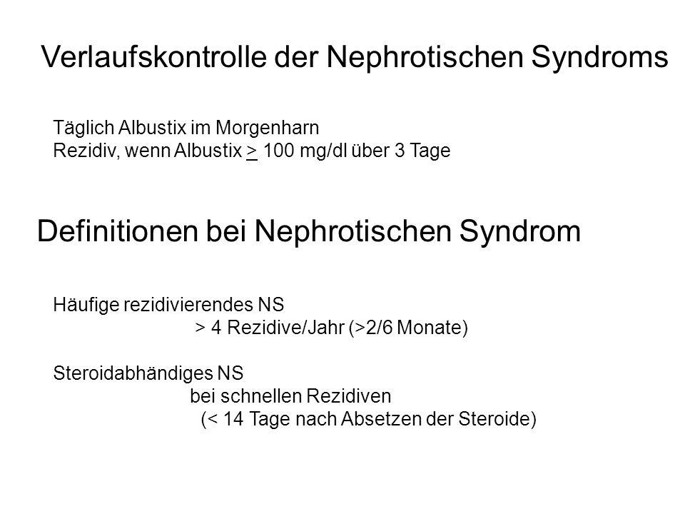 Verlaufskontrolle der Nephrotischen Syndroms