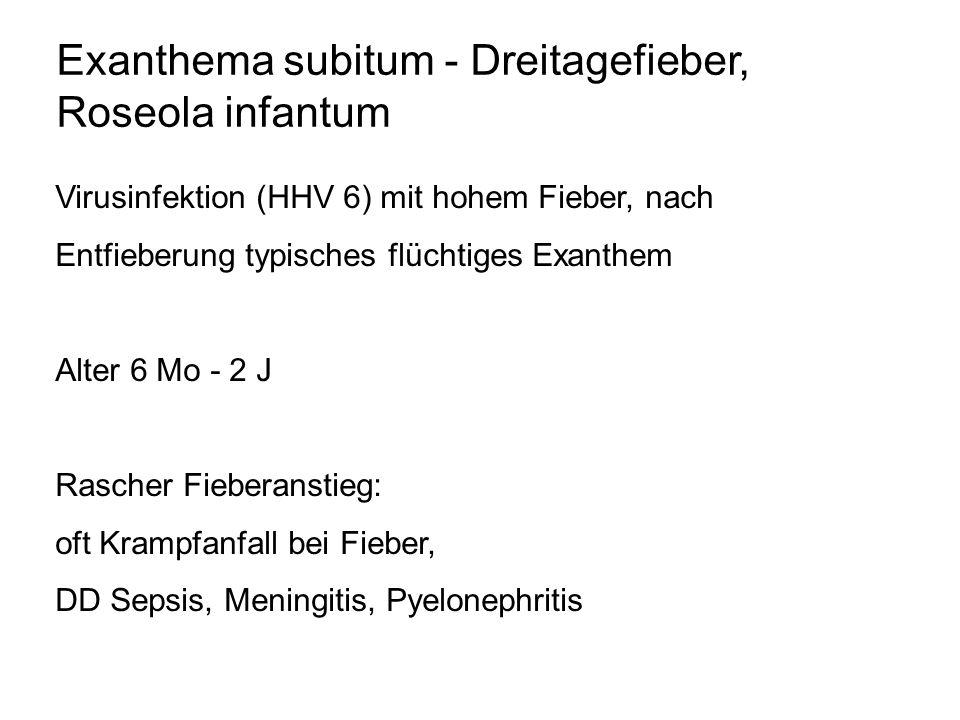 Exanthema subitum - Dreitagefieber, Roseola infantum