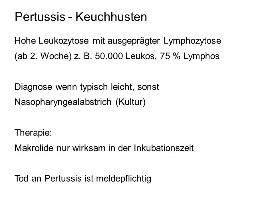 Pertussis - Keuchhusten