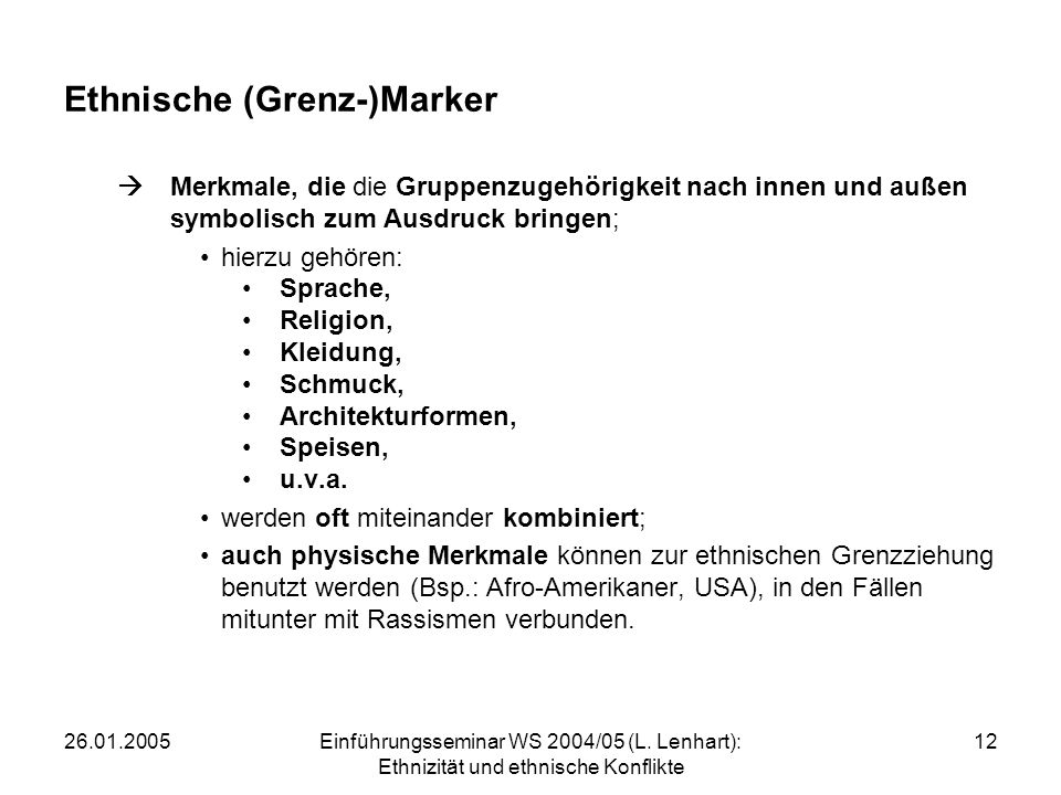 Ethnische (Grenz-)Marker