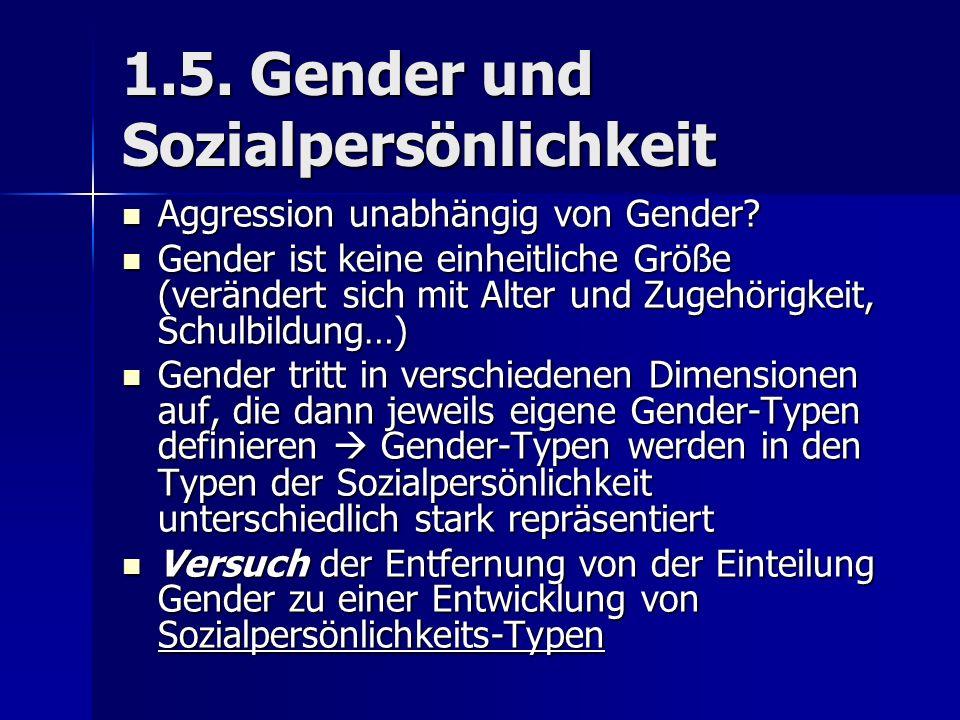 1.5. Gender und Sozialpersönlichkeit