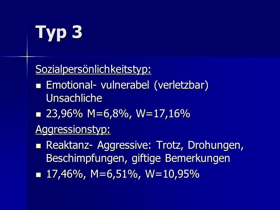 Typ 3 Sozialpersönlichkeitstyp: