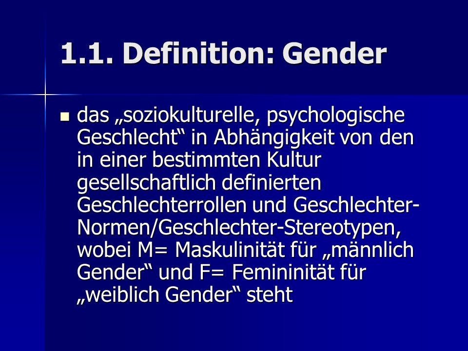 1.1. Definition: Gender