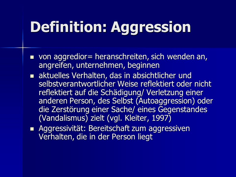 Definition: Aggression